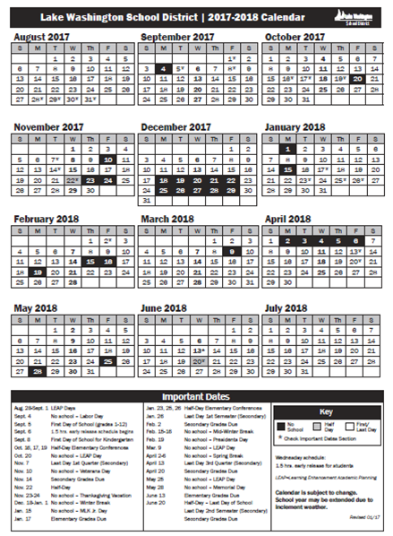 Lwsd Calendar 2020 District Calendar   Muir Elementary School